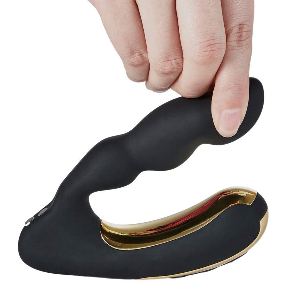 BESTOYARD Masajeador de puntos p de Masajeador de p próstata impermeable Vibrador anal para hombres juguetes masculinos (Negro) 6298d7