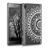 kwmobile Crystal Case for Sony Xperia Z5 Premium with Design sunflower pattern - transparent Protection Case Cover clear in white transparent
