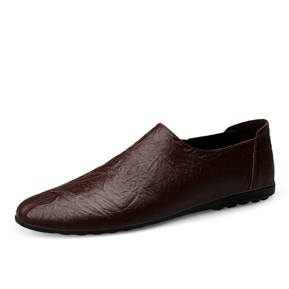 Marron 38 EU Chaussures en Cuir pour Hommes, Souliers Souples et Flexibles, Chaussures Driving Lok Fu, Cuir Microfibre, Chaussures légères et antidérapantes,Chaussures de Cricket