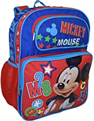 Disney Mickey Mouse Deluxe 16 School Bag Backpack
