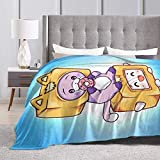 Mlgaril LANKYBOX Foxy Boxy Blanket Cartoon Flannel