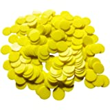 Yuanhe 200 Pieces 25mm/1 inch Solid Opaque Plastic Learning Counters Mini Poker Chips