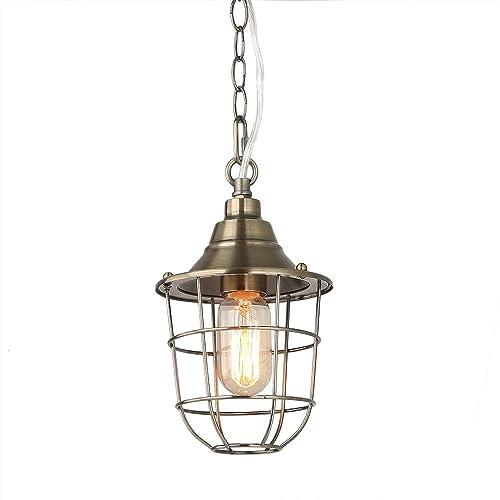 nautical ceiling light led lnc caged champagne nautical ceiling lamps pendant lighting a03245 lighting amazoncom