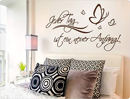 Wandtattoo Spruch Jeder Tag ist ein ein ein neuer Anfang Schlafzimmer Wanddeko Motivation B07KPKFK45 Wandtattoos & Wandbilder 9a722c