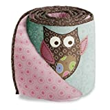 Calico Owls Crib Bumper