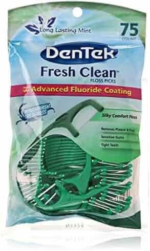 DenTek Fresh Clean Floss Pick, 75 Count
