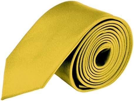 Moda Di Raza- Mens Skinny Slim Tie Silk Finish Polyester Men necktie