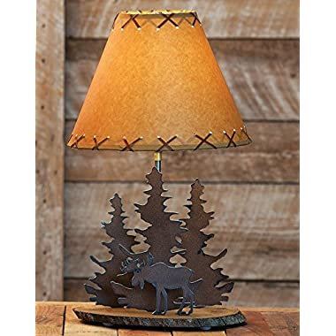 Moose Rustic Metal Lamp - Cabin Lighting Fixtures