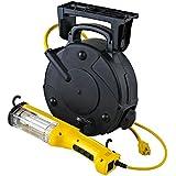 Professional Heavy Duty 26 Watt Industrial Fluorescent Retractable Cord Reel Auto Repair Shop Work Light