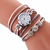 Wristwatch,AutumnFall Ladies Bracelet Diamond Circle Watches Student New Fashion Table (Rose Gold)