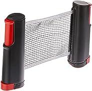 Rede Retrátil Ping Pong 1,67 Metros Tênis Mesa Universal PRETOC/VERMELHO
