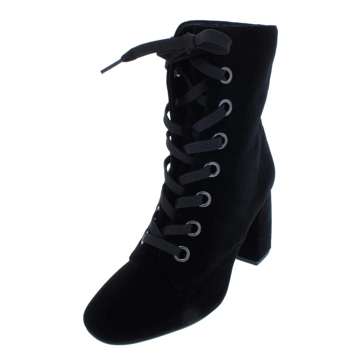 Black Velvet BCBGeneration Womens Alexa Closed Toe Ankle Fashion Boots