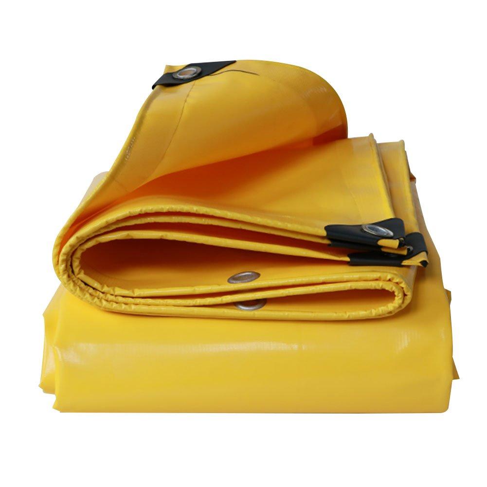 GLJ Im Freien Starke Wasserdichte Sonnencreme Plane Große LKW Regen Tuch Leinwand PVC Wasserdichte Plane Wasserdicht Tuch Markise Tuch Plane (Farbe   Gelb, größe   4x3m)