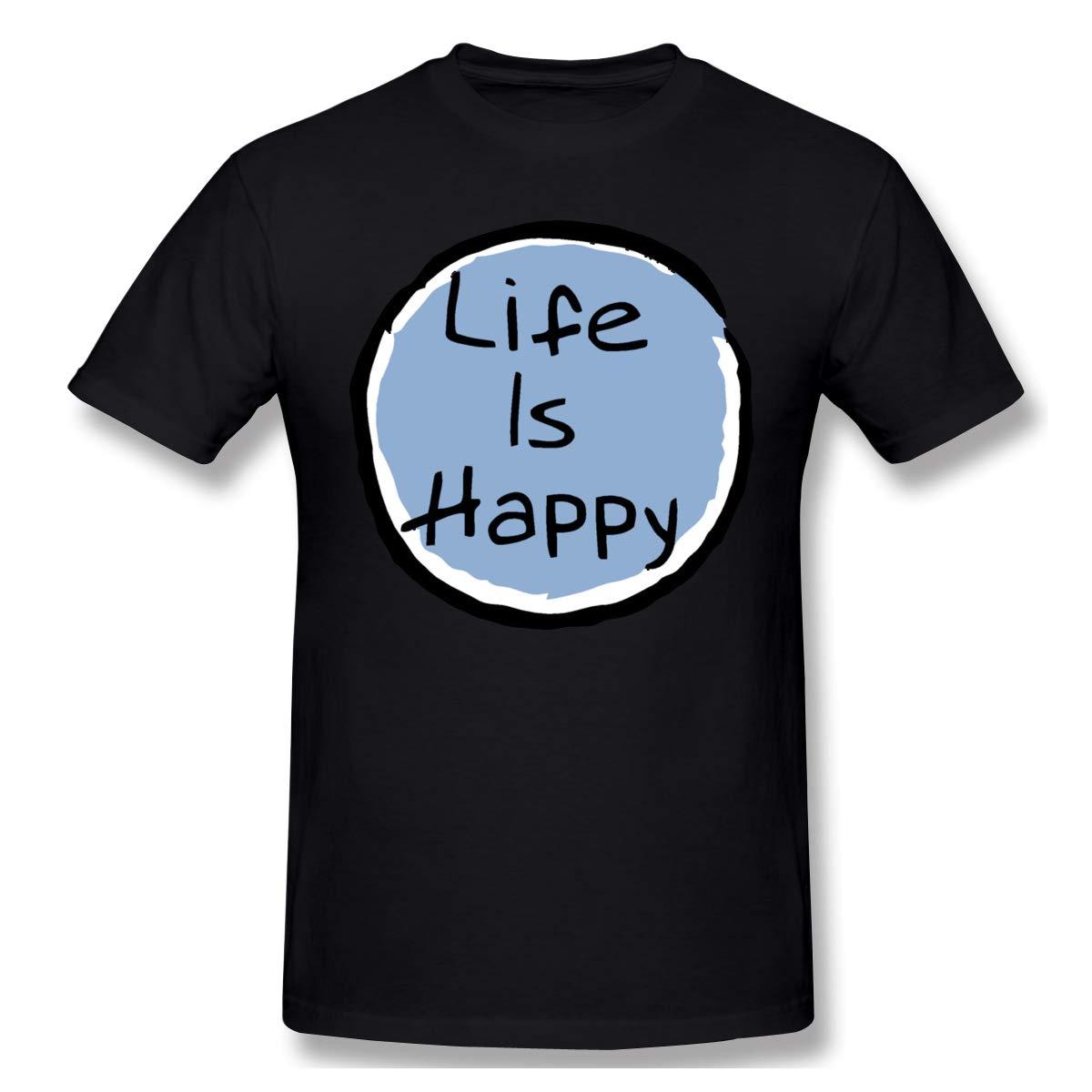 Life Is Happy Fashion Short Sleeve T Shirt 6 8513