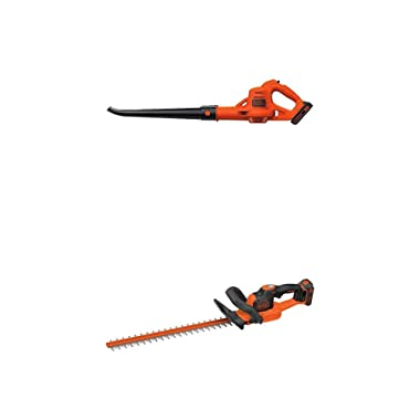 BLACK+DECKER LSW221 20V MAX Lithium Cordless Sweeper and hedge trimmer