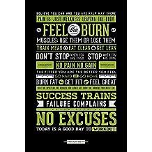 Laminated Motivational Gym Motivation No Excuses Poster 61x91.5cm