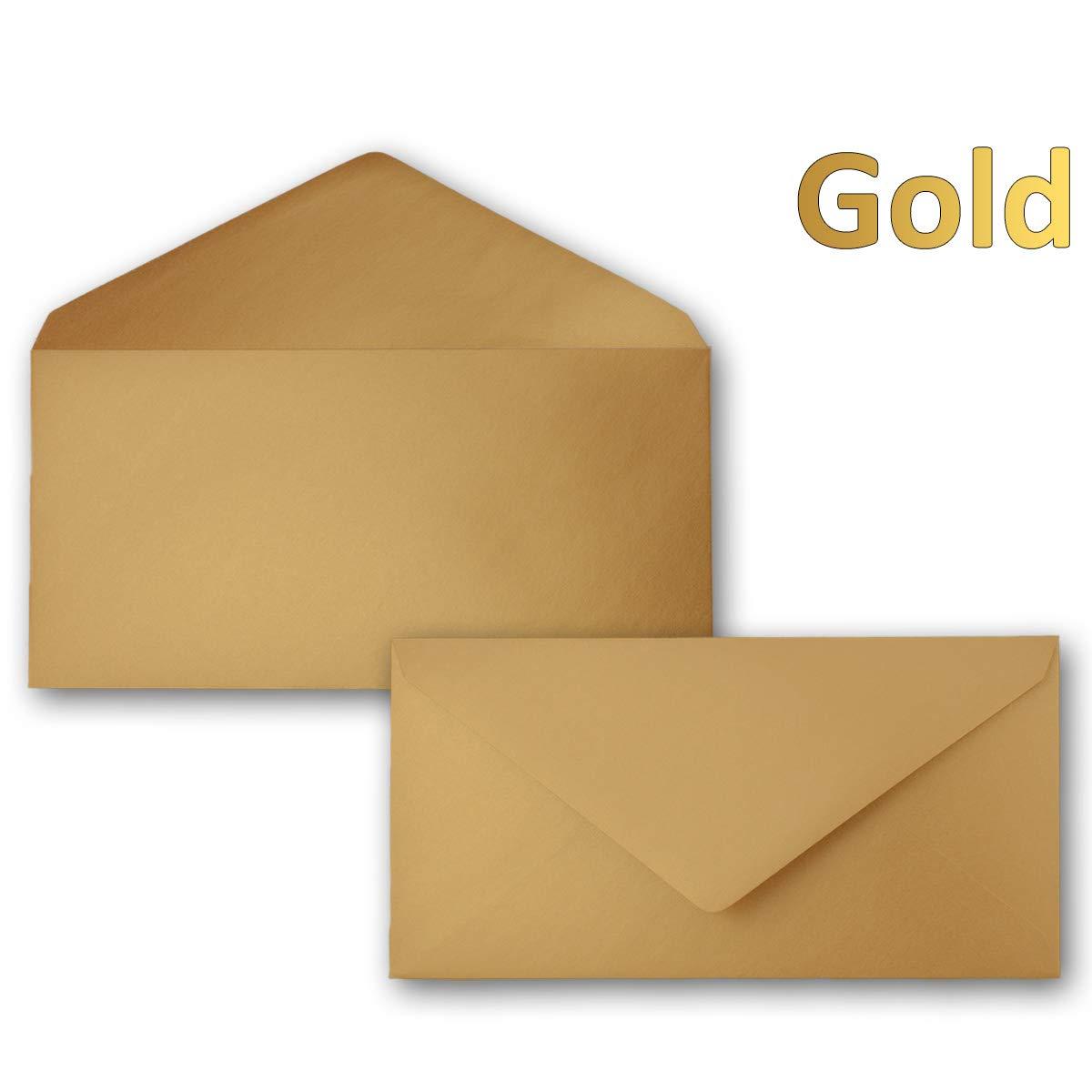 250 Brief-Umschläge Bronze Metallic DIN Lang - - - 110 x 220 mm (11 x 22 cm) - Nassklebung ohne Fenster - Ideal für Einladungs-Karten - Serie FarbenFroh® B079DQR9KX | Mama kaufte ein bequemes, Baby ist glücklich  c00206