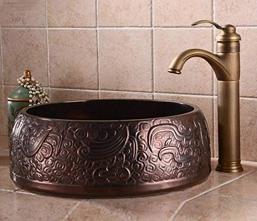 Kitchen Fauct Kitchen Sink Taps Antique Kitchen Sink Basin Mixer Tap Sink Faucet Solid Brass Hot and Cold (color   -, Size   -)