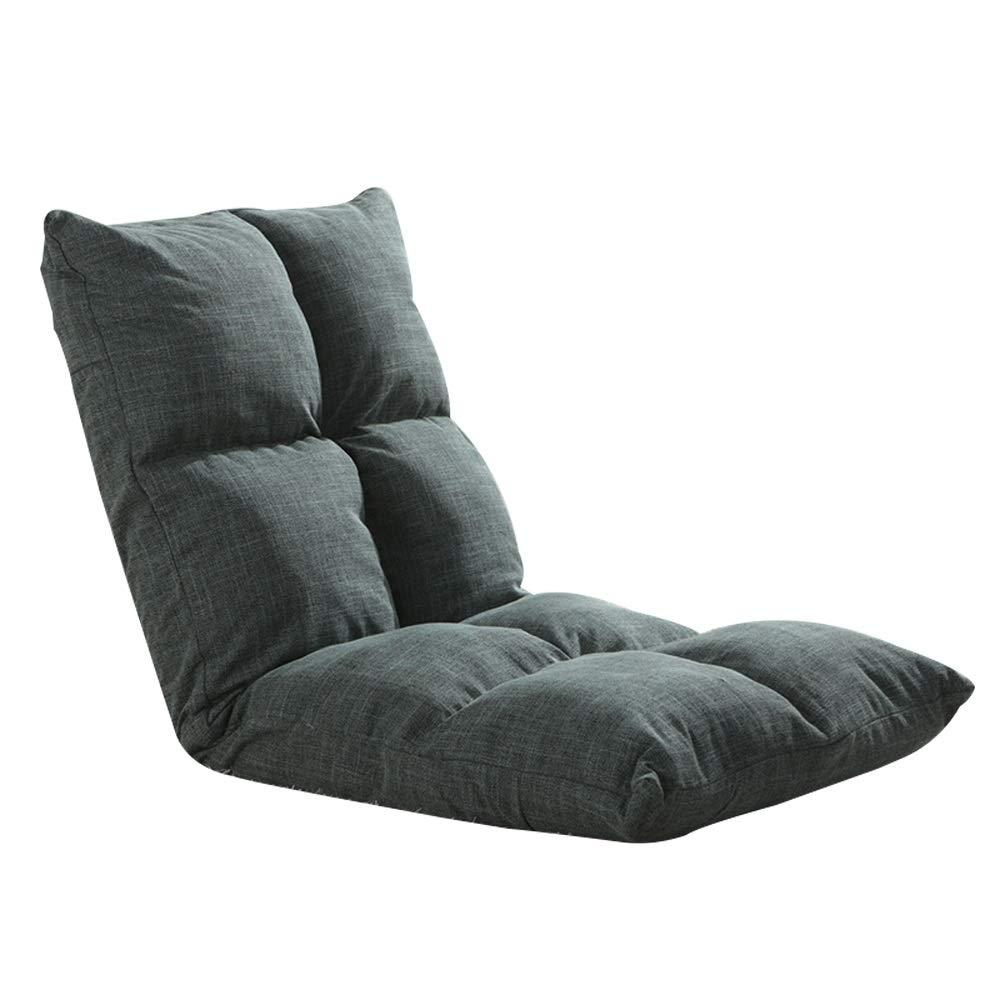 F portable Chaise Longue Salon Canapé Plancher Chaise Meubles Simples Salon Chambre Lit Réglable Paresseux Dossier Coussin For Lecture Méditation Jeu 12 Couleurs (Taille   L)