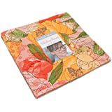 """Blushing Peonies Layer Cake, 42 - 10"""" Precut Fabric Quilt Squares By Robin Pickens"""