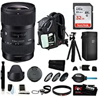 Sigma 18-35mm F1.8 DC HSM Zoom Lens for Canon DSLR Cameras w/ Accessory Bundle