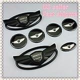 7pcs New 3D Matt Black Genesis Wing Badge Emblem Sticker For Hyundai GenesisUS Stock