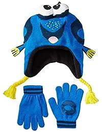 Disney Big Boys' Finding Nemo Dori 3D Knit Peruvian and Glove Set