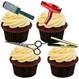 Hairdresser Edible Cupcake Toppers - Stand-up Wafer Cake Decorations by Made4You