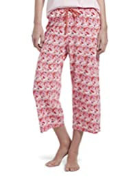 Hue Womens Printed Knit Capri Pajama Sleep Pant