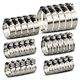 InduSKY 30Pcs Hose Clamps Adjustable 6-51mm Range 304 Stainless Steel Worm Gear Hose Clamps Assortment Kit Fuel Line Clamp for Plumbing, Automotive and Mechanical Applications