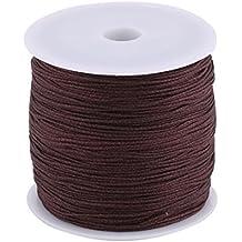 eDealMax Nylon Inicio arte de DIY pulsera trenzada nudo Chino del cordón de cuerda cuerda 110