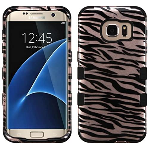 Galaxy S7 Edge Case, Rock Me Wireless (TM) 2 items Bundle - 24K Gold Plating Sticker and Triple Layers Hybrid Sales