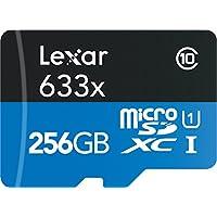 Lexar High-Performance microSDXC 633x 256GB UHS-I Card w/SD Adapter - LSDMI256BBNL633A
