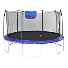 Skywalker Trampolines Jump N' Dunk with Safety Enclosure and Basketball Hoop, Blue, 15-Feet
