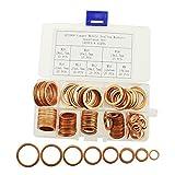 IZTOSS 140Pcs 8 Sizes Copper Metric Sealing Washers Assortment Set-M8 M10 M12 M14 M16 M18 M20
