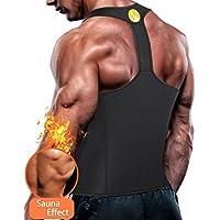 Junlan Men Workout Tank Top Vest Gym Shirt Weight Loss Dress Waist Body Shaper Sauna Suit Slim Corset Compression Clothes