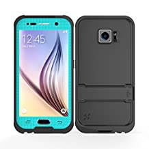 Galaxy S6 Waterproof Case, iThroughTM Samsung Galaxy S6 Waterproof Case, Dust Proof, Snow Proof, Shock Proof Case with Screen Protector, Heavy Duty Protective Carrying Cover Case for Galaxy S6 (Blue)