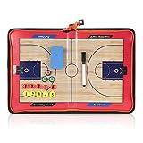 Lixada Magnetic Basketball Coach Board Erasable Folding Tactics Coaching Board Clipboard with Zipper