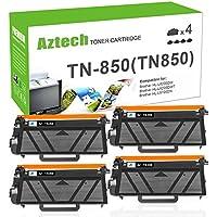 AZTECH 4PK 8000 High Yield Black Compatible TN850 TN-850 TN820 HL-L6200DW MFC-L5900DW Toner Cartridge for Brother HLL6200DW HL-L6200DWT HL-L5100DN HL-L5200DW MFC L5850DW L6800DW Business Laser Printer