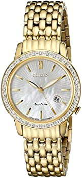Citizen Eco-Drive Women's Diamond Accents Gold-Tone 29mm Watch