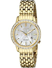Eco-Drive Womens EW2282-52D Diamond Watch