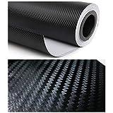 3D Black Carbon Fiber Film Twill Weave Vinyl Sheet Roll Wrap - 24''x60''