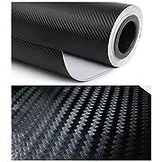 "Amazon Lightning Deal 65% claimed: 12"" X 60""black Carbon Fiber 3d Professional Grade Wrap Vinyl Film Sheet-hq"