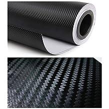 """12"""" X 60""""black Carbon Fiber 3d Professional Grade Wrap Vinyl Film Sheet-hq"""