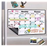 Homein Dry Erase Calendar Magnetic Fridge Calendar Board Monthly Whiteboard 2020 Family Calendars for Refrigerator White Organizing Planner Board, 16.9 X 11.8 inches