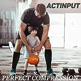 ACTINPUT 8 Pairs Compression Socks Women & Men