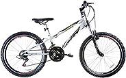 Bicicleta Aro 24 Dragon Fire Branca 21v Suspensão Down Hill, Track Bikes