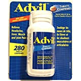 Advil Tablets (280 Count) 200 mg Ibuprofen, Relieves Headaches, Fever, Muscle and Joint Pain (Super Saver Bottle)