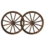 "Backyard Expressions 908838 23"" 2-Pack Wooden Wagon Wheels"