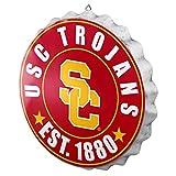 FOCO NCAA Bottle Cap Wall Sign, USC Trojans